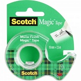 Клейкая лента канцелярская Scotch Magic прозрачная 7.5 мм х19 м